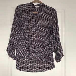 Professional Wrap Blouse